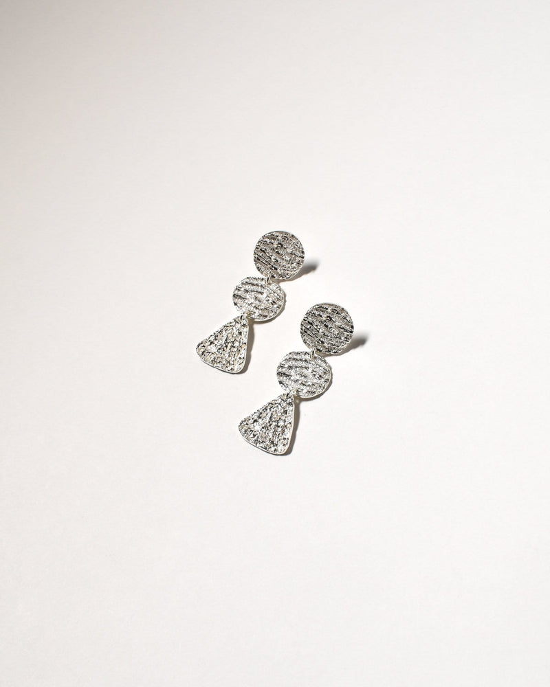 Coogee Earrings (Short), Sterling Silver