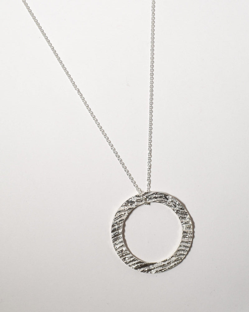 Hoop Necklace, Sterling Silver