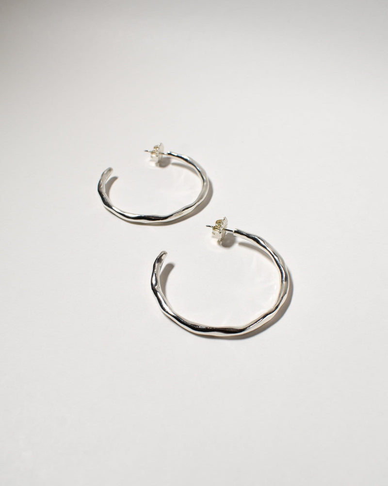 Wiggle Hoops (Large), Sterling Silver