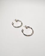 Wiggle Hoops (Medium), Sterling Silver