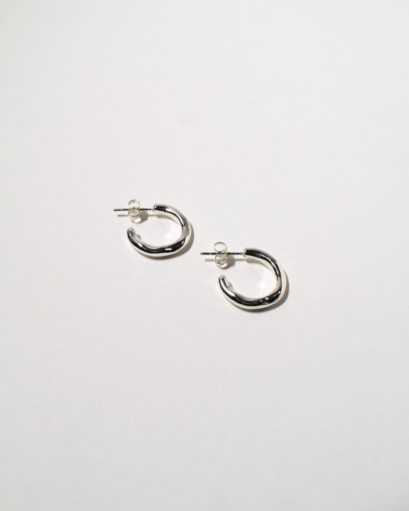 Wave Hoops (Small), Sterling Silver