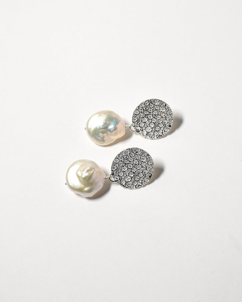 Baroque Pearl Studs, Sterling Silver