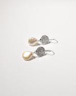 Tear Drop Pearl Earrings, Sterling Silver