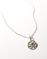 Tanzanite Birthstone Necklace - December - Sterling Silver