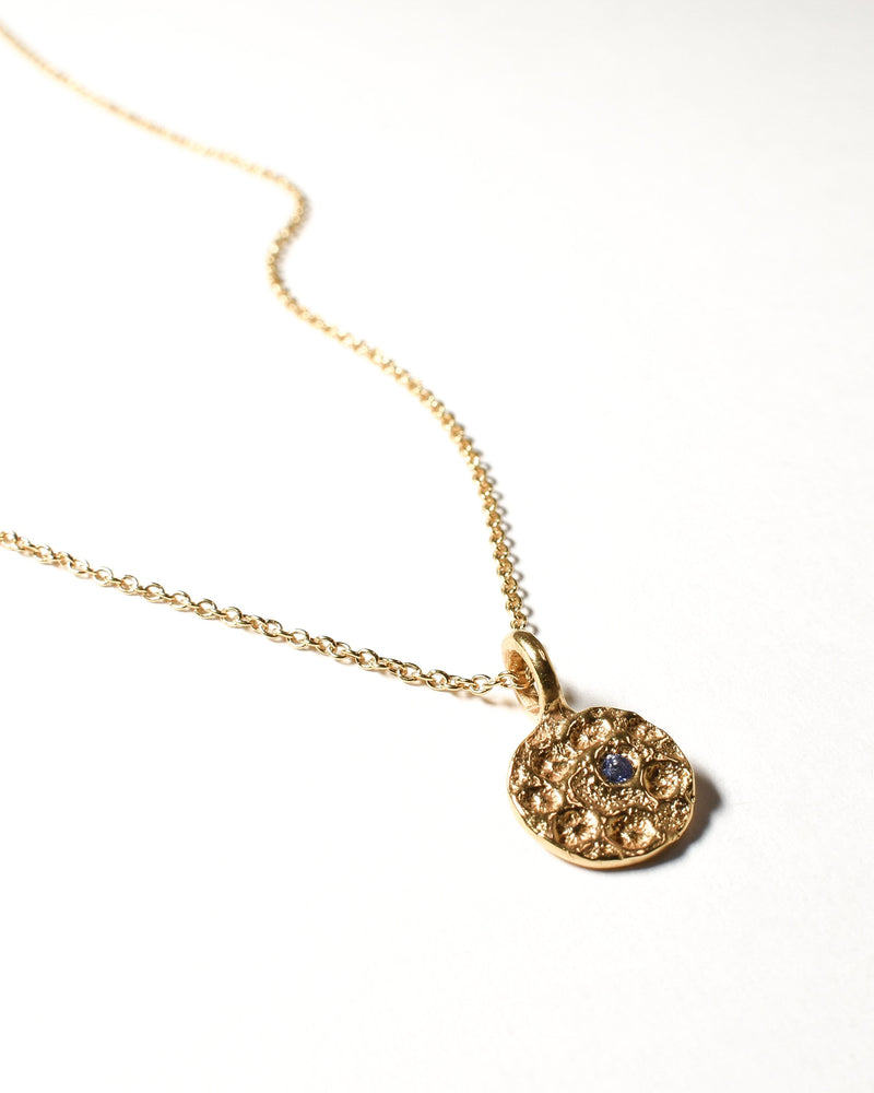 Tanzanite Birthstone Necklace - December - Yellow Gold