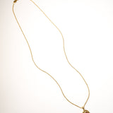 Tourmaline Birthstone Necklace - October - Yellow Gold
