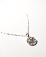 Tourmaline Birthstone Necklace - October - Sterling Silver