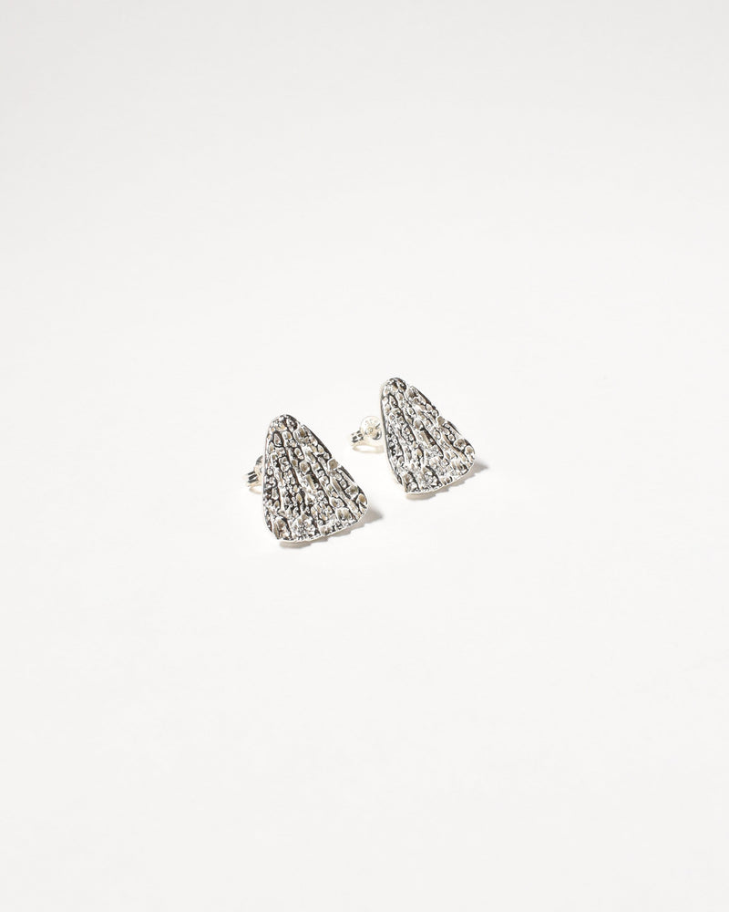 Shelly Studs, Sterling Silver