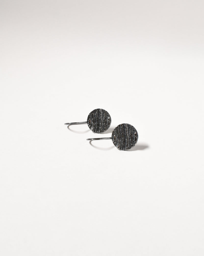 Kutti Earrings, Oxidised Sterling Silver