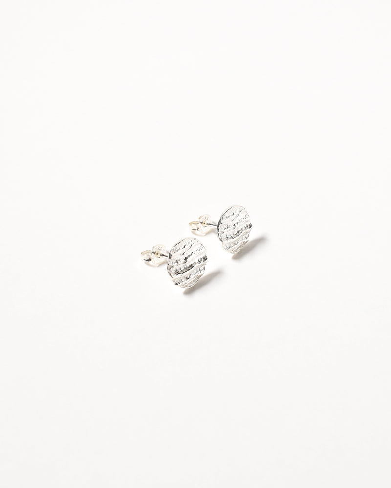 Small Wavy Studs, Sterling Silver