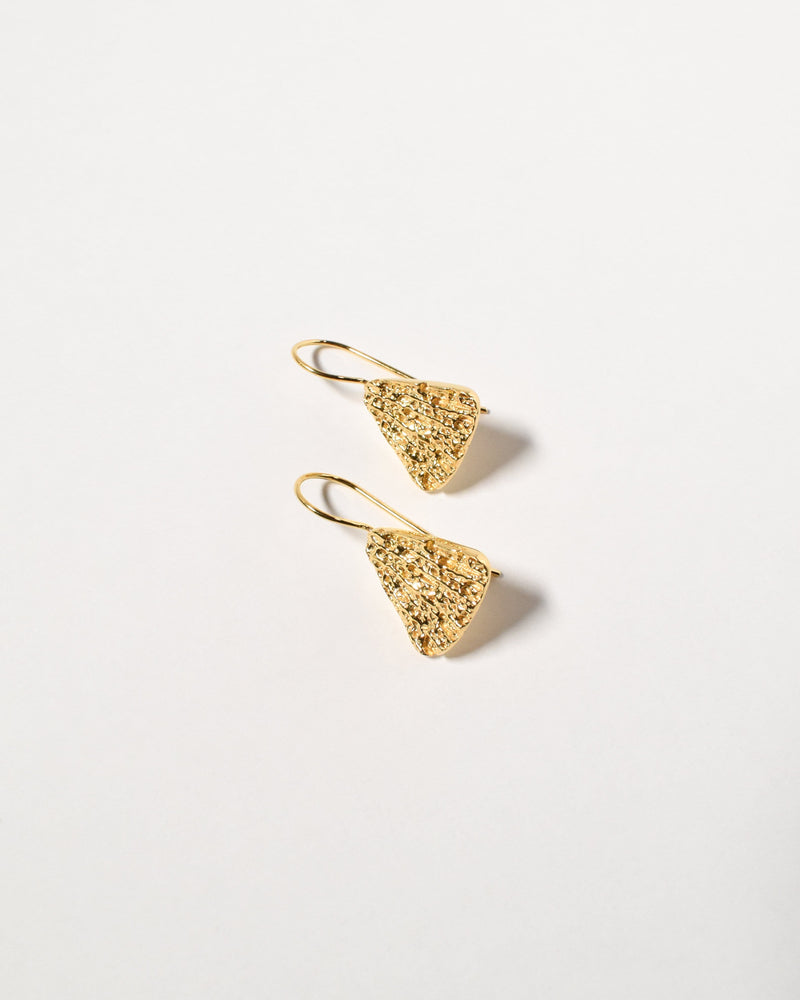Shelly Earrings, Yellow Gold Plated