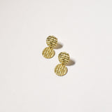 Curl Curl Earrings (Small), Yellow Gold Plated