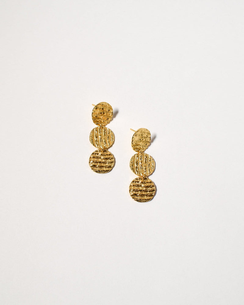 Curl Curl Earrings (Medium), Yellow Gold Plated