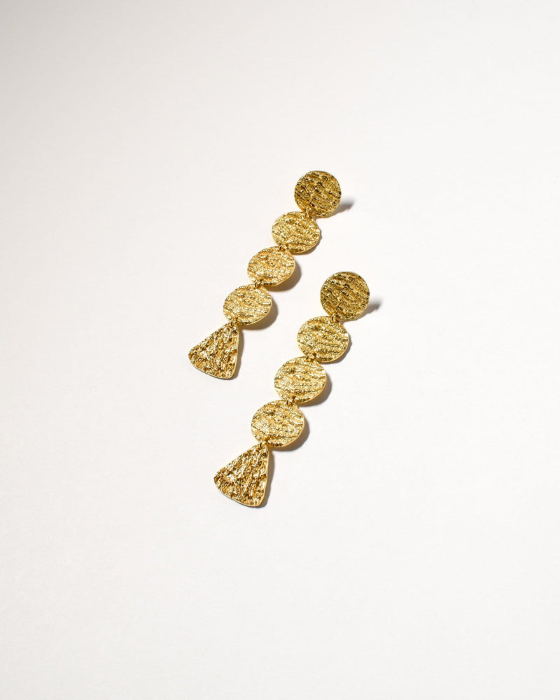 Coogee Earrings (Long), Yellow Gold Plated