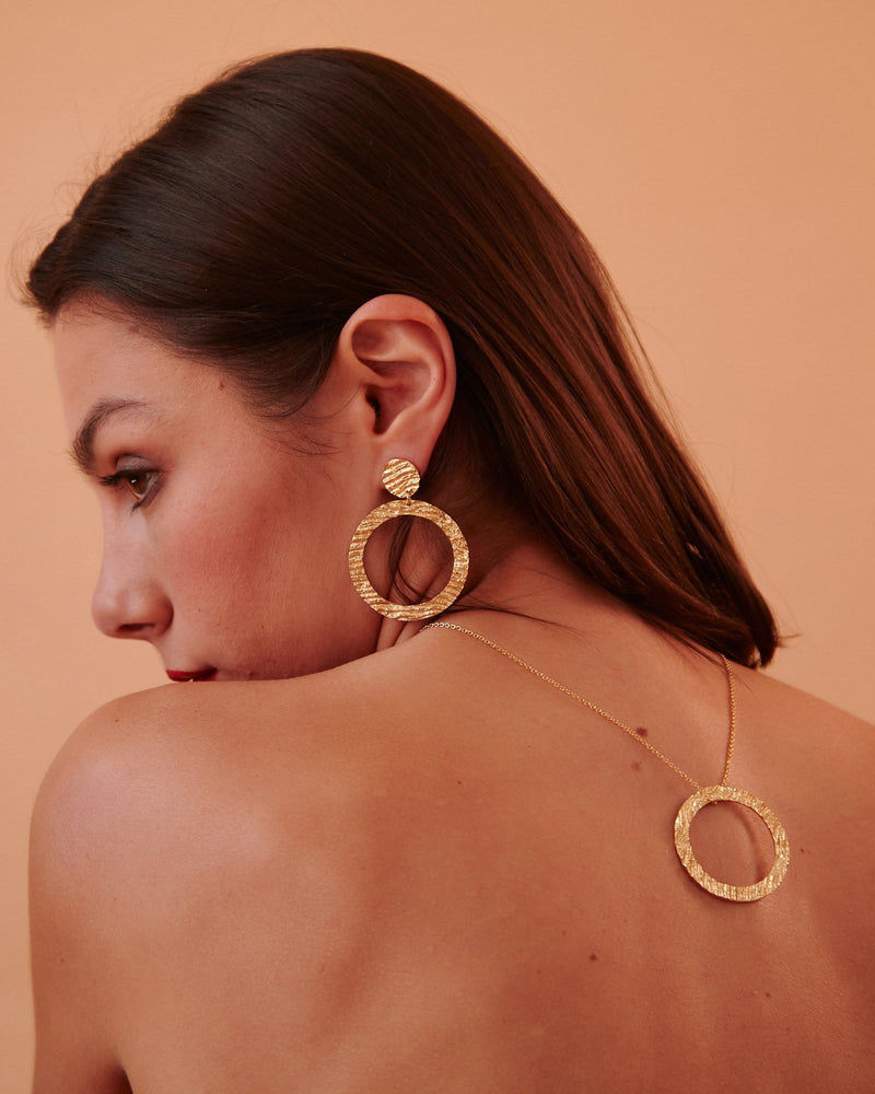 Hoop Earrings, Yellow Gold