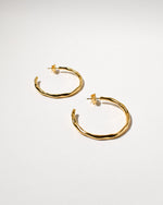 Wiggle Hoops (Large), Yellow Gold Plated
