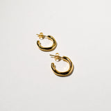 Wave Hoops (Small), Yellow Gold Plated