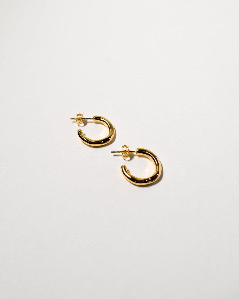 Wiggle Hoops (Small), Yellow Gold Plated