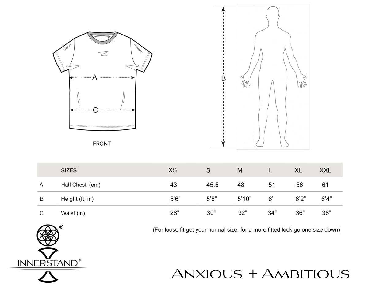 Anxious + Ambitious Size Guide
