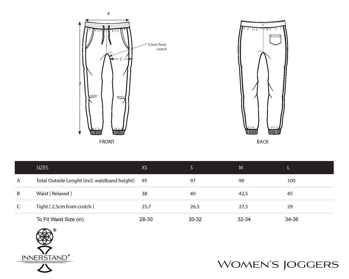 Ladies Signature Joggers Size Guide
