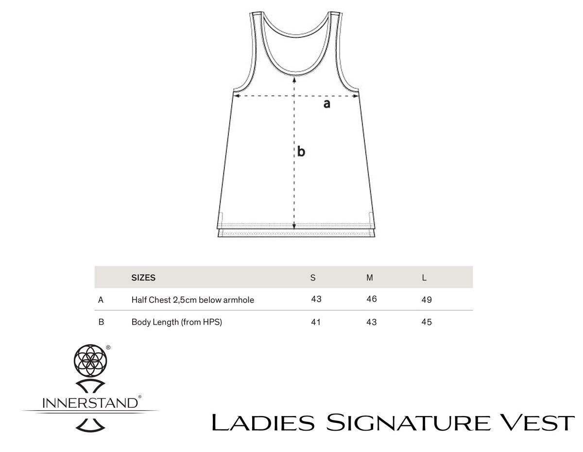 Ladies Signature Vest Size Guide