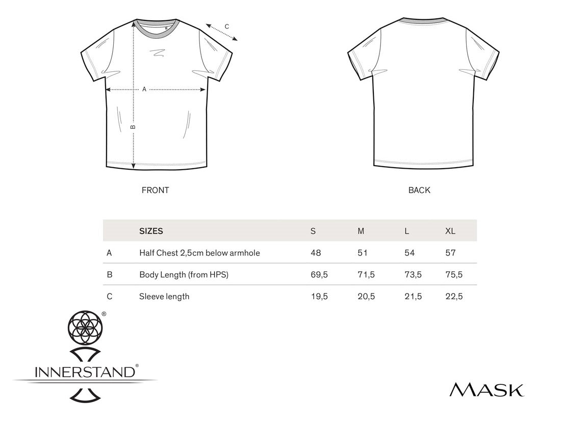 Mask Tee Size Guide