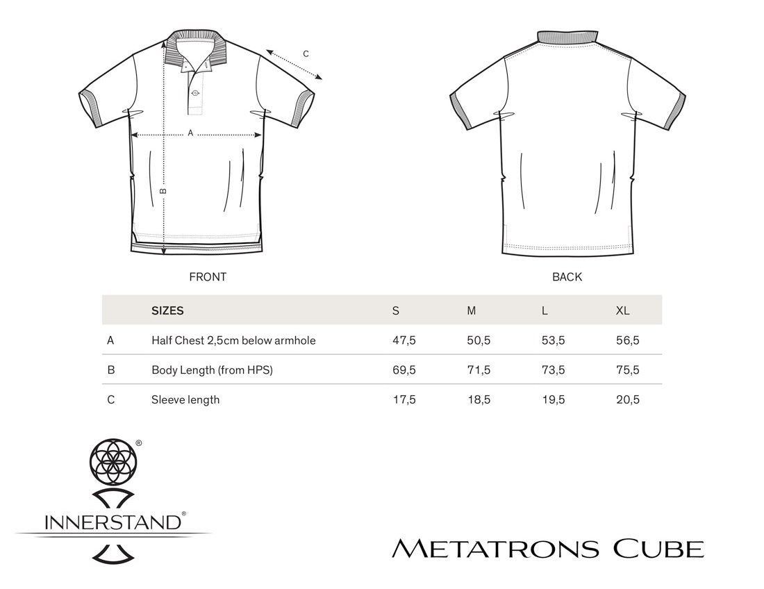 Metatron's Cube Polo Size Guide