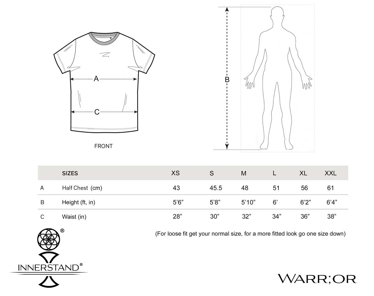 Warr;or Size Guide