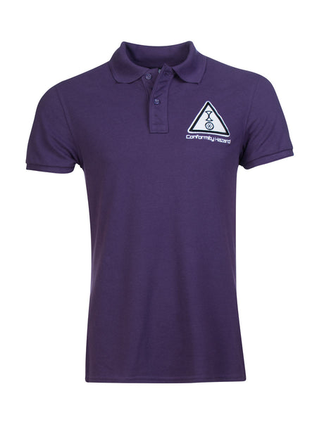 Conformity Hazard Polo in Plum - 100% Organic Cotton - Front View