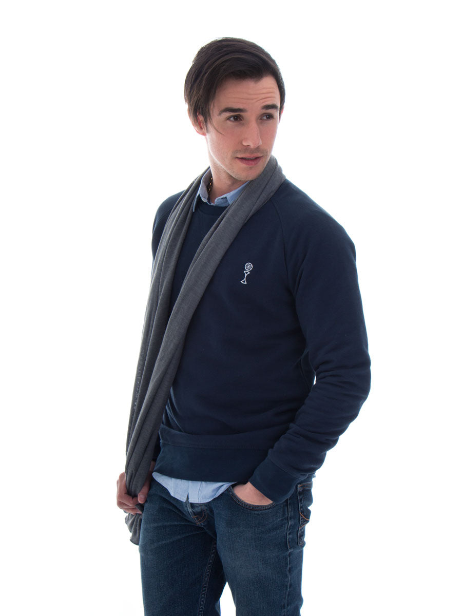 Signature Jumper in Navy - Front View