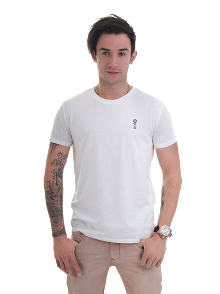 Signature T-Shirt in White - 100% Organic Cotton - Front View