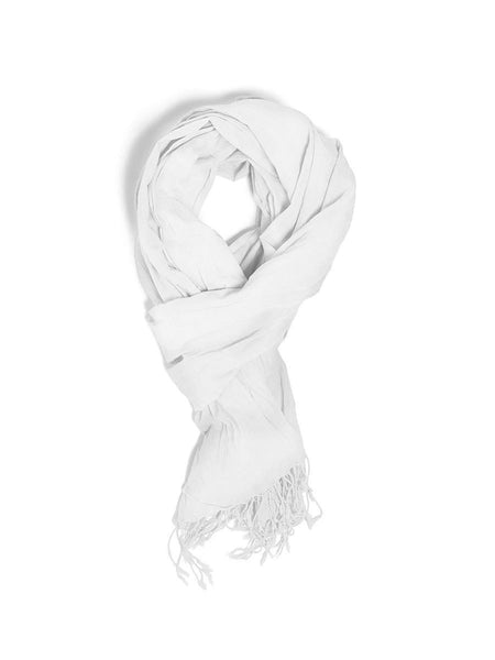 100% Organic Cotton Scarf - White