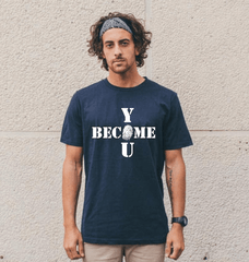 Men's Become You Tee - Denim Blue - 100% Organic Cotton