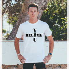 Men's Become You Tee - White - 100% Organic Cotton
