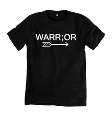 100% Organic Cotton Warr;or Tee in Black