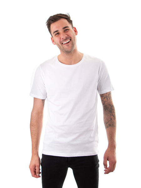 Ethical Essentials Tee - White - 100% Organic Cotton - Front View
