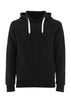 Ethical Essentials Hoodie - Black - 100% Organic Cotton - Front View