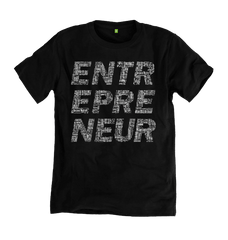 Entrepreneur Tee - Black - 100% Organic Cotton