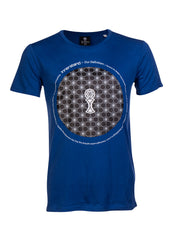 Definition T-Shirt in Deep Royal Blue - 100% Organic Cotton - Front