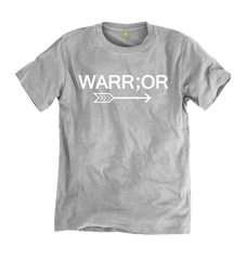 100% Organic Cotton Warr;or Tee in Grey