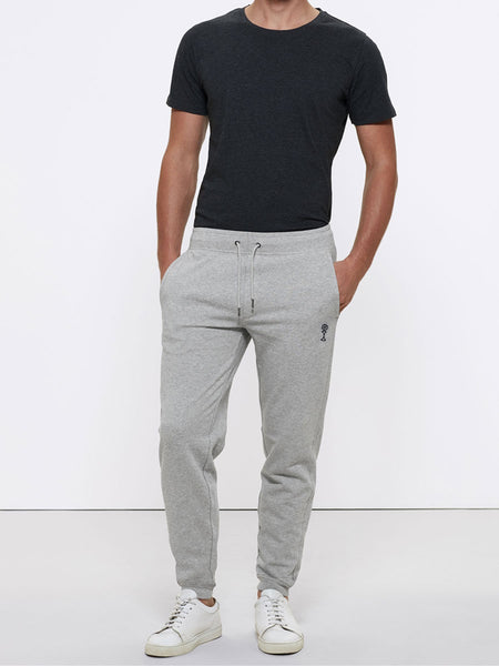 Men's Signature Joggers - Light Grey - 85% Organic Cotton 15% Polyester - Front View