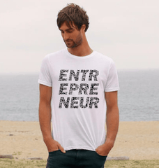 Men's Entrepreneur Tee - White - 100% Organic Cotton