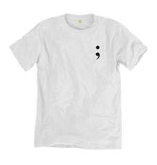 White Semicolon Tee - 100% Organic Cotton