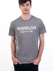 Men's Warr;or Tee - 100% Organic Cotton - Grey