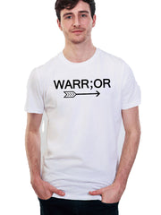 Men's Warr;or Tee - 100% Organic Cotton - White