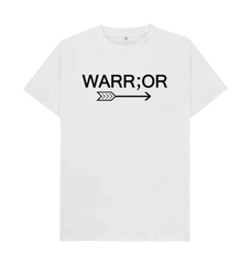 100% Organic Cotton Warr;or Tee in White