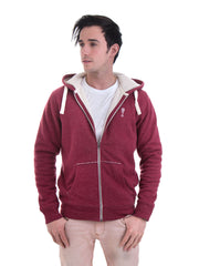 Winter Hooded Jumper in Heather Red - Front View