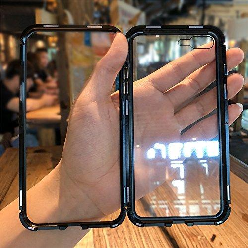 (Factory Outlet- 50% OFF today!)2019 IPHONE New Fashion Magnetic Adsorption Transparent Glass Cover Phone Case-BUY 2 FREE SHIPPING