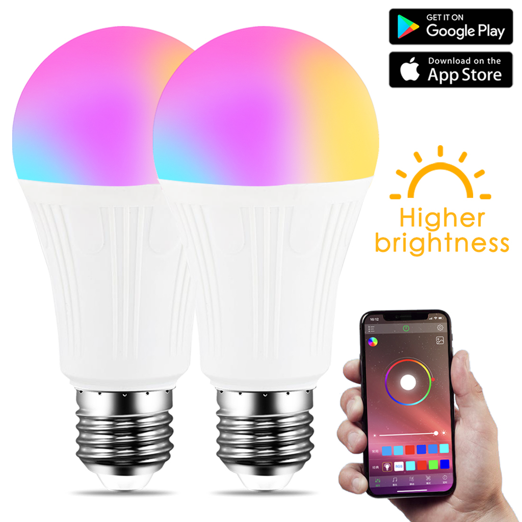 Wake-Up Lights E27 B22 Smart WiFi Light Bulb RGB Magic Light Bulb Lamp For Alexa and Google Assistant