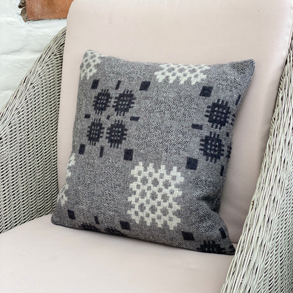 Grey Welsh Tapestry Cushion